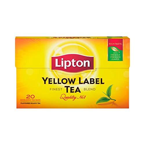 Te negro | Lipton | Etiqueta Amarilla 20 Piezas | Peso Total 30 grams