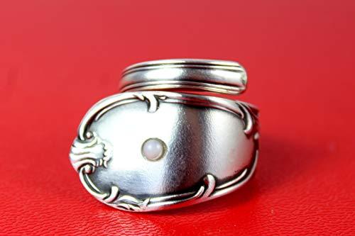 Rokoko Besteckschmuck Ring, Größe 53 (16,8)