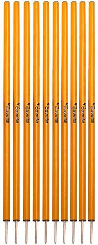 Cawila Slalomstangen, 10er Set, verschiedene Farben (orange)