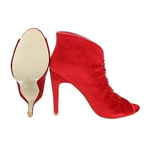 High Heel Damenschuhe Plateau Pfennig-/Stilettoabsatz High Heels Ital-Design Pumps Rot