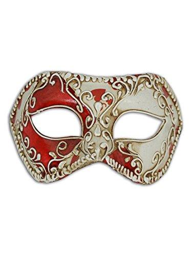 Venetian Eye Mask Colombina Tarjetas para hombres y mujeres (cuori)