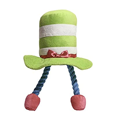 Rosewood Plush and Tug Rope Top Hat Character Mr Twister Novelty Dog Toy, 28 cm