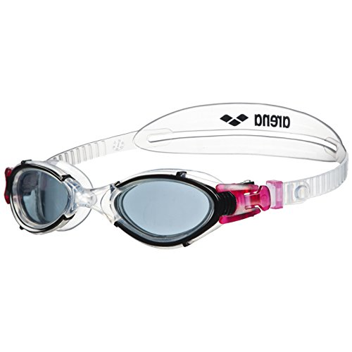 arena Damen Nimesis Crystal Schwimmbrille, Smoke/Clear/Black, One Size