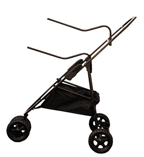 AMKA Sattelcaddy klappbar schwarz, mit 3 Räder und Bremse | Caddy Sattelboy Sattelwagen Stall Carry klappbarer mit Rollen Sattelbock | Sattelständer | Stallwagen | Satteltrolley Sattelbock mit Rädern