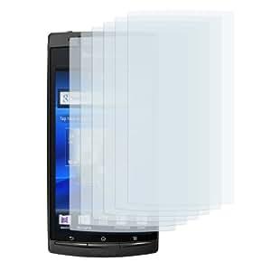 6x mumbi Displayschutzfolie Sony Ericsson Xperia ARC / Xperia ARC S CrystalClear Displayschutz unsichtbar