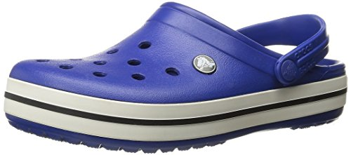 Crocs Unisex-Erwachsene Crocband Clogs, Blau (Cerulean Blue-Oyster), 43/44 EU