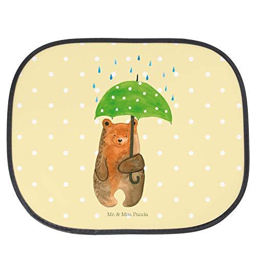 Mr. & Mrs. Panda Fenster, Kinder, Auto Sonnenschutz Bär mit Regenschirm - Farbe Gelb Pastell