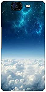 Snoogg Electric Sky Designer Protective Back Case Cover For Micromax Canvas Knight A350