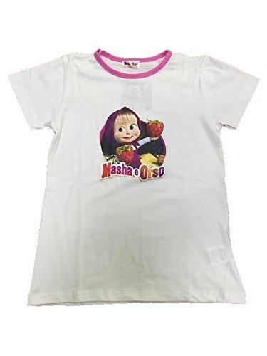 Masha e orso completo leggero t-shirt e leggings 21256-6 anni-bianco