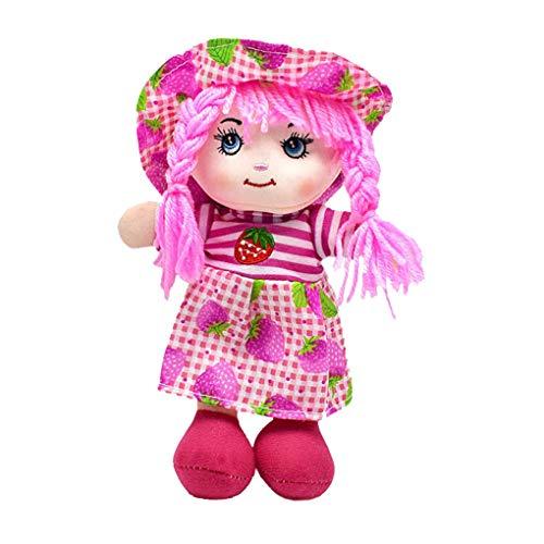 Demino Relleno muñecos de Peluche 25cm de Fruta de la Historieta impresión de la Falda del Sombrero muñeca de Trapo Suaves del paño del bebé Juguetes cumpleaños de los niños 5 25cm