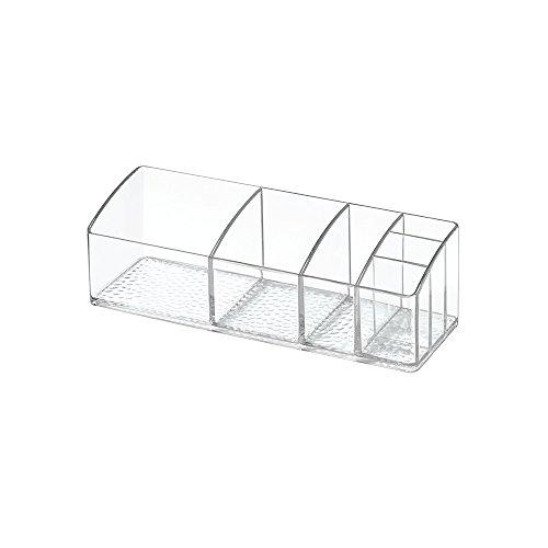 InterDesign Med+ pastillero semanal | Caja clasificadora con 6 compartimentos | Ideal para fármacos, pastillas vitaminas | Plástico transparente