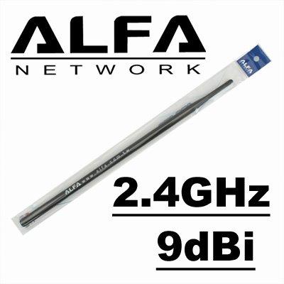 Price comparison product image Alfa Network 9dBi WiFi Booster RP-SMA omni-directionnel Alfa - AWUS036H,  AWUS036EH
