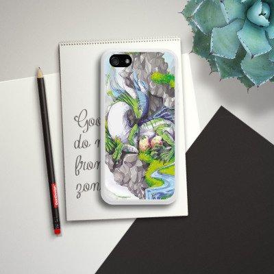 Apple iPhone 5s Housse Étui Protection Coque Dragon Imagination Rêve Housse en silicone blanc