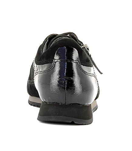 Gabor Damenschuhe 56.345.47 Damen Schnürer, Sneaker, Halbschuhe, Schnürhalbschuhe Grau altsilber/schwarz