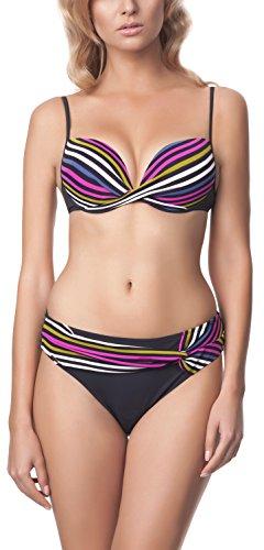 Antie Completo Bikini da Donna C4ST1R3C1 S Grafite/Lilla/Verde Chiaro