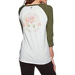 BILLABONG Eye Sea Sky Camiseta de Manga Larga, Mujer, Verde (Olive 31), X-Small (Tamaño del Fabricante:XS)