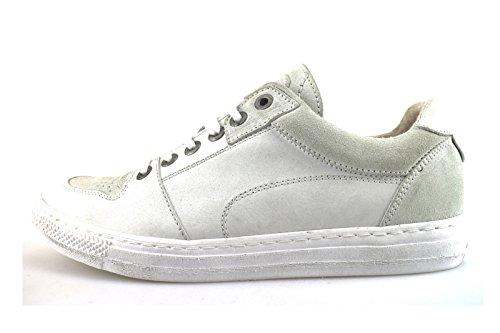 CAFE' NOIR sneakers Damen Blau / weiß Leder Wildleder Weiß