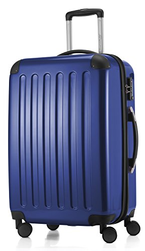 HAUPTSTADTKOFFER - Alex - NEU 4 Doppel-Rollen Hartschalen-Koffer Koffer Trolley Rollkoffer Reisekoffer, TSA, 65 cm, 74 Liter, Dunkelblau