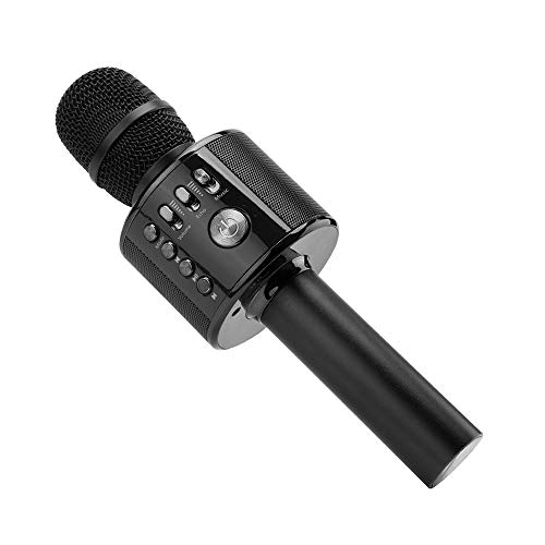Ankuka Bluetooth Karaoke Mikrofon, Portable Handmikrofon Lautsprecher Player Mikrofon - Stereo Player für Musik spielen KTV, Party, als Lautsprecher für PC, iPhone, iPad und Android/IOS Smartphone