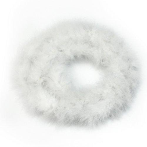 RHX Flauschige Federboa, toll für Mottopartys, Hochzeiten, als Dekoration oder als Weihnachtsgeschenk, Weiß, 2m