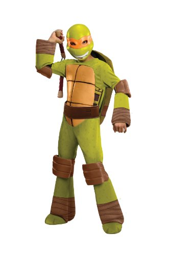 Deluxe Child Michelangelo Fancy dress costume (Michelangelo Nunchucks Kostüme)