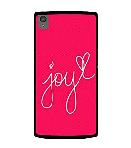 Joy Heart 2D Hard Polycarbonate Designer Back Case Cover for OnePlus X :: One Plus X :: One+X