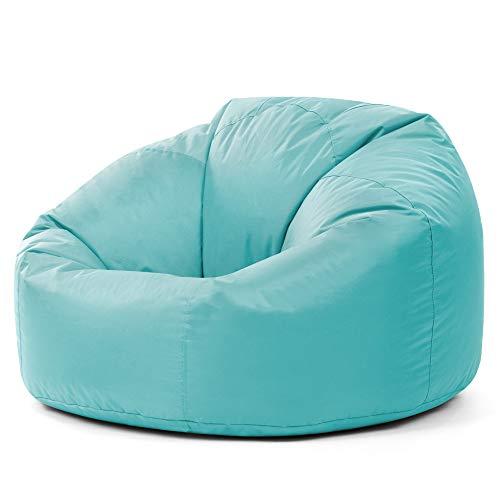 Bean Bag Bazaar Sillón Tipo Puf Clásico - 84cm x 70cm, Puf Grande para Interiores y Exteriores (Azul Claro, 1)