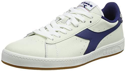 Diadora Game L Low, Sneaker Unisex Adulto, Bianco (BCO/Blu Crepuscolo/Gr Pulviscolo C7918), 39 EU