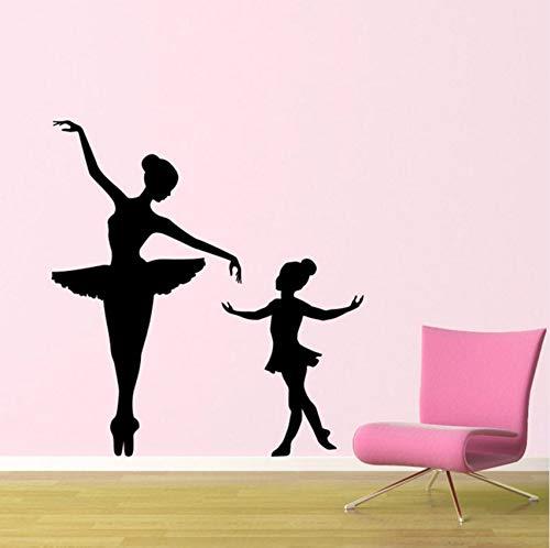 derne Aufkleber Double Dance Ballett Tutorial Elegante Ballerina Kinder Kindergarten Mädchen Raumdekoration Vinyl Kunst Wandaufkleber ()
