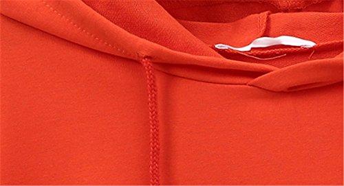 Haroty Pull à Capuche Femme Grande Taille Manches Longues Hiver Automne Coton Casual Fluide Asymetrique Personnalisable Sweats à Capuche Orange