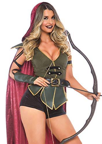 Leg Avenue 8678106101 - Costume di Carnevale da Robin Hood, 3 Pezzi, Taglia M/L (EUR 40-42), Multicolore