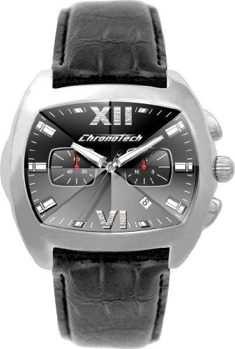 Chronotech orologio analogico quarzo uomo con cinturino in pelle ct2185g-35