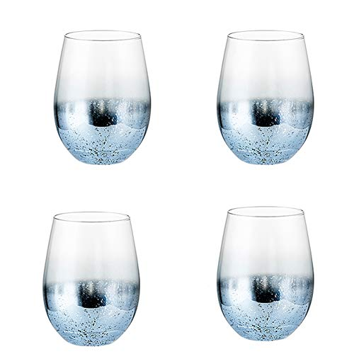 Ap.dishu set di tazze di vetro, adatto per caffè/tè/latte/tè di frutta/bevande calde, tazza di vetro classica di qualità 4 pezzi 20 oz,#3