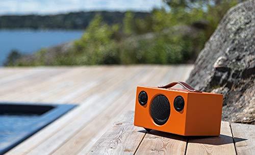 Audio Pro Addon T3 portabler Bluetooth Stereo-Lautsprecher (30h Akkulaufzeit, Echtholzgehäuse) Orange (T3 12 Subwoofer)
