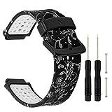 TRUMiRR Forerunner 235 Armband, Doppelte Farbe Silikon Gummi Armband Sport Uhrenarmband für Garmin Forerunner 235/220/230/620/630/735XT, Approach S20/S5/S6 Smartwatch