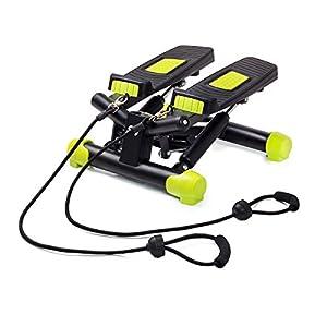 Fitkraft Twister FTKTSTEPSWIII Swing Stepper Drehstepper Sidestepper mit Computer und Expande Schwarz