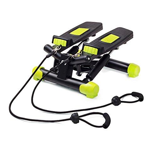 fitkraft Swing Stepper con ordenador y cuerdas negro de color...