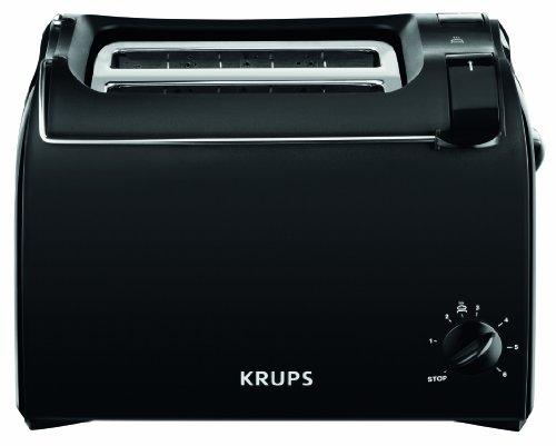 Krups KH1518 Toaster Aroma, 2 Scheiben, 700 W, Brötchenaufsatz, schwarz