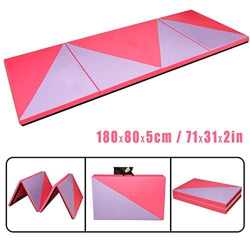 CCLIFE Rot&Lila 180x80x5cm Weichbodenmatte Turnmatte Klappbar Gymnastikmatte