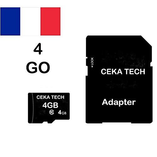 ACER Liquid Jade S Compatibile, CEKA TECH Micro-SD 4 GB Scheda di memoria compatibile Classe 10 con adattatore SD