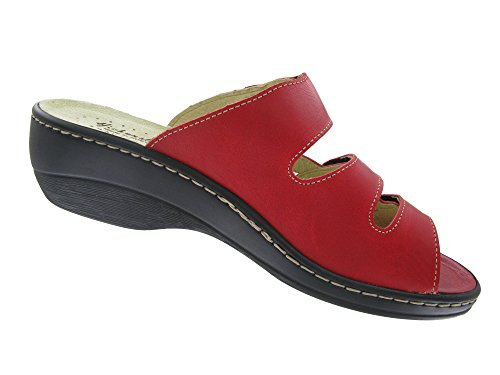 Hickersberger Kräuterschuhe Damen Pantolette Rot Rot