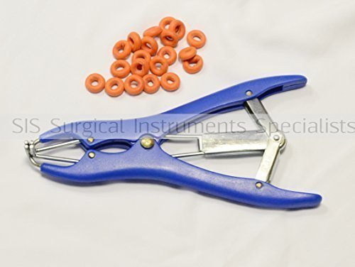 SURGICAL INSTRUMENT Specialists Elastrator Kastration Zange mit Gummiring Applikator Zinn Stahl oder Plastik - Plastik Elastrator mit Ringen