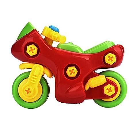 Angelof Démontage de cadeaux Conception de moto Jouets éducatifs pour enfants Enfants