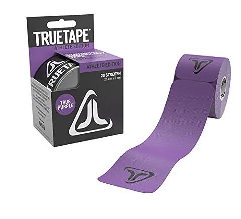 TRUETAPE Athlete Edition elastisches Kinesiologie Tape / Physiotape - 20 vorgeschnittene Streifen 25cm x 5cm (TRUE