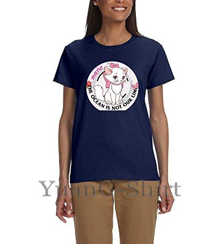 Cute Little White Cat Summer New Ladies Cotton T-Shirt