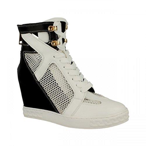 gold&gold - Gold & Gold|Sneaker rete zeppa nero Black