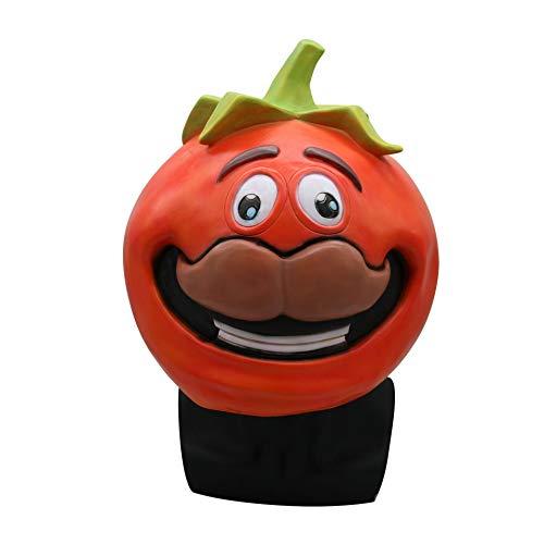 Fleisch Kostüm Kleid - HLXXX Halloween Cosplay Lustige Tomaten Maskerade Maske, Scary Fleisch Latex Schneidezahn Kürbis Maske Party Kleid Maske Game Around Kostüm (Tomate),Red-OneSize