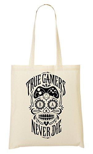 ever Die Skull Tragetasche Einkaufstasche ()