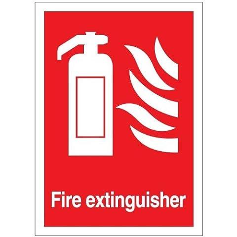 Fire Extinguisher Sticker 14cm x 10cm - Health and Safety