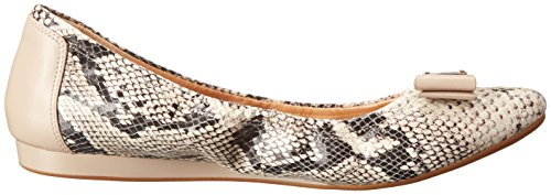 Cole Haan Tali Bow Ballet Flat Natural Roccia Snake Print